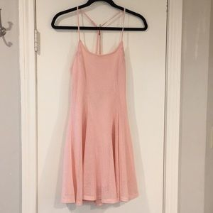 Foreign Exchange Blush Criss Cross Strappy Dress